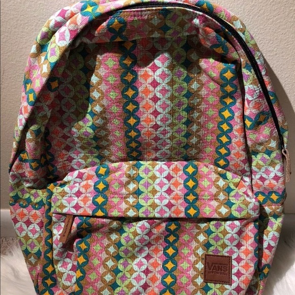 79de17cab3 New Vans Deana III Multi color Backpack Book Bag